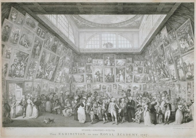 Martini, Pietro Antonio; Poggi, Anthony; Ramberg, Johann Heinrich; The Exhibition of the Royal Academy, 1787